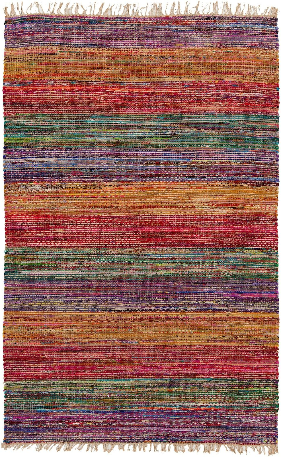 surya pride solid/striped area rug collection