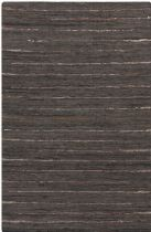 Surya Solid/Striped Anthracite Area Rug Collection