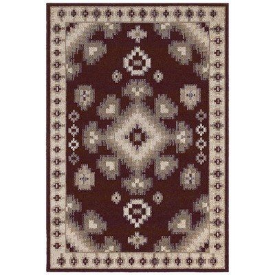 shaw concepts southwestern/lodge area rug collection