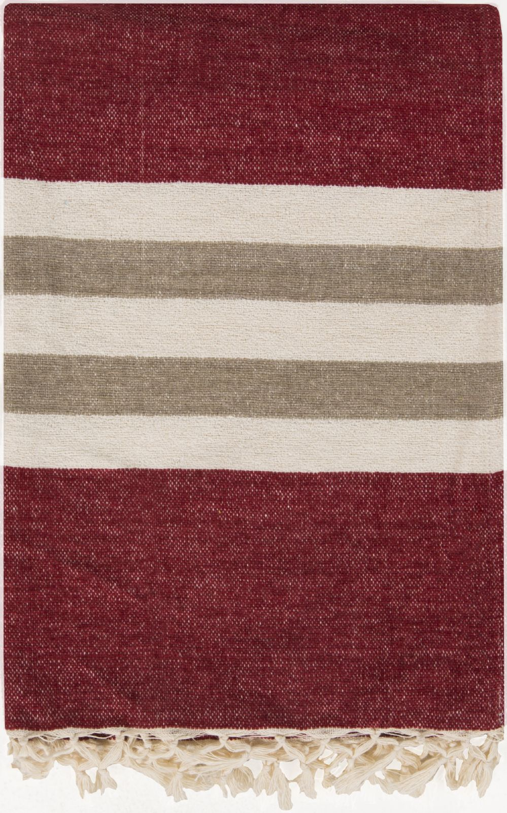 surya troy solid/striped throw collection