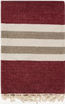 Surya Solid/Striped Troy throw Collection