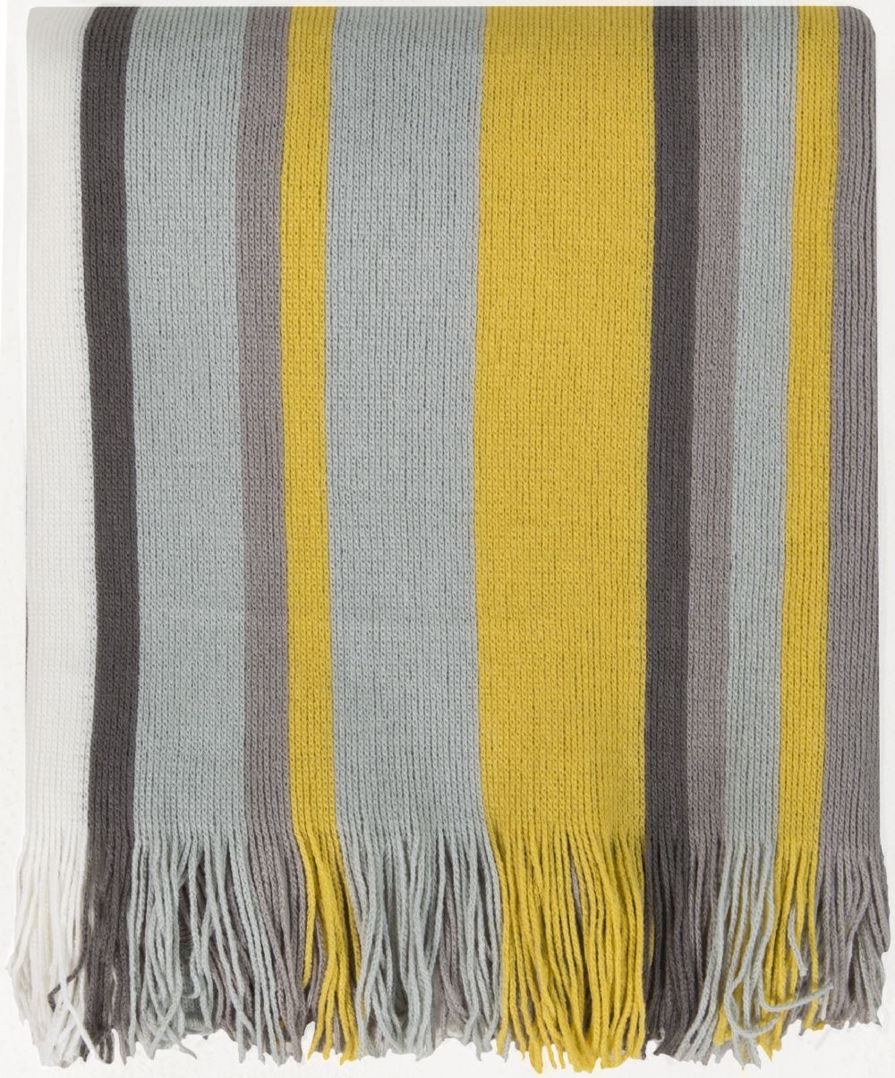 surya topanga solid/striped throw collection