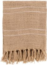 Surya Solid/Striped Traveler throw Collection