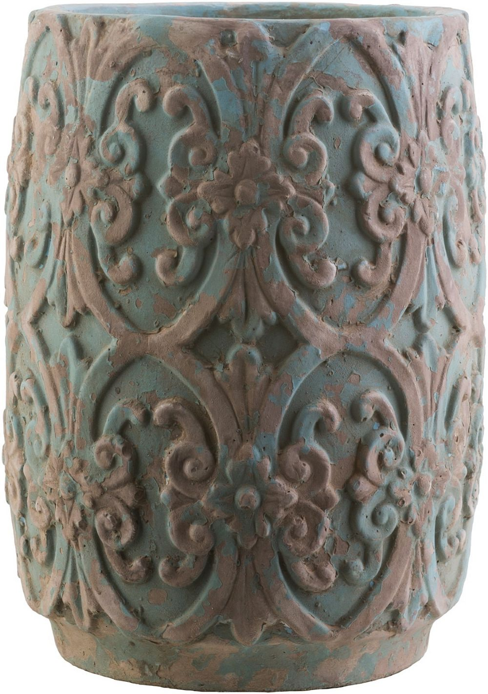 surya zephra country & floral outdoor pots