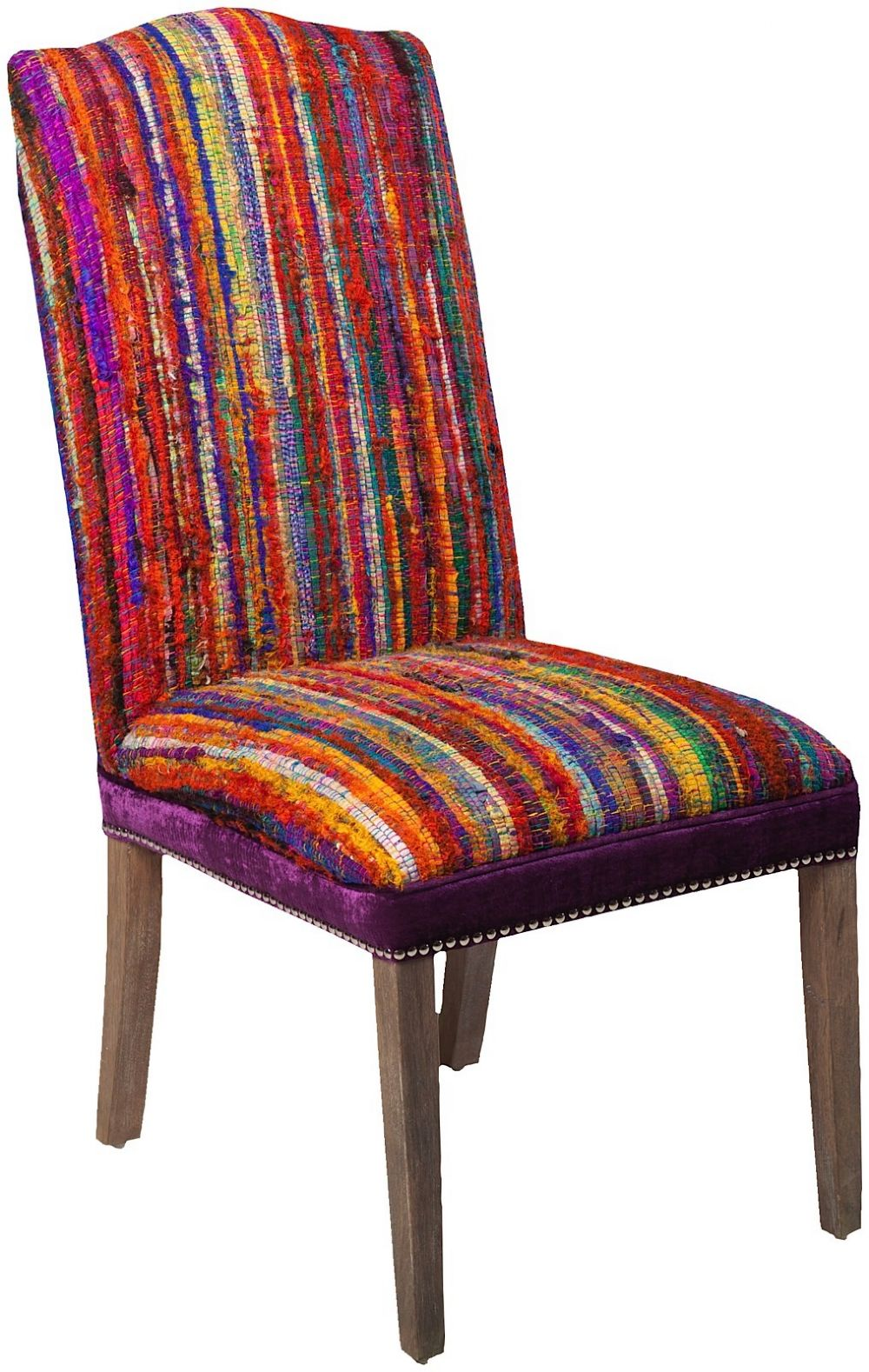 surya multi striped contemporary accent chairs