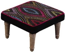 Surya Contemporary Embroidered accent furniture Collection