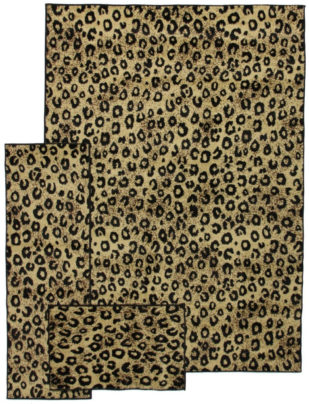 well woven breathless desire 3 pc set (5x7, 1.10x5, 1.8x2.7) animal inspirations area rug collection