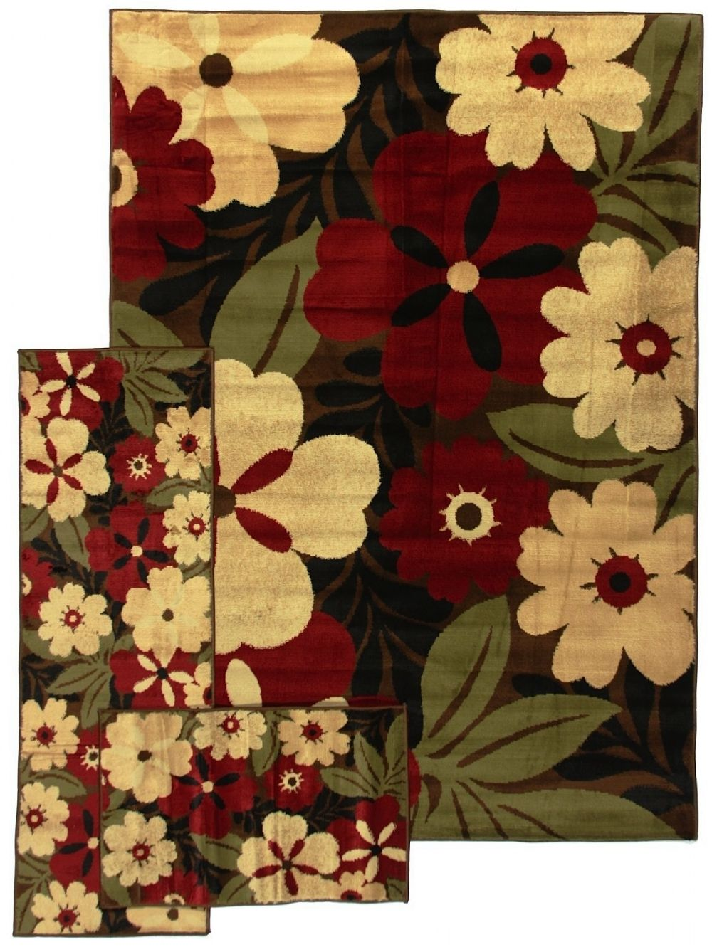 well woven breathless desire 3 pc set (5x7, 1.10x5, 1.8x2.7) contemporary area rug collection