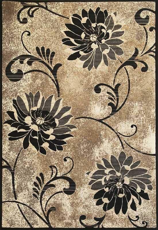 kas onyx country & floral area rug collection