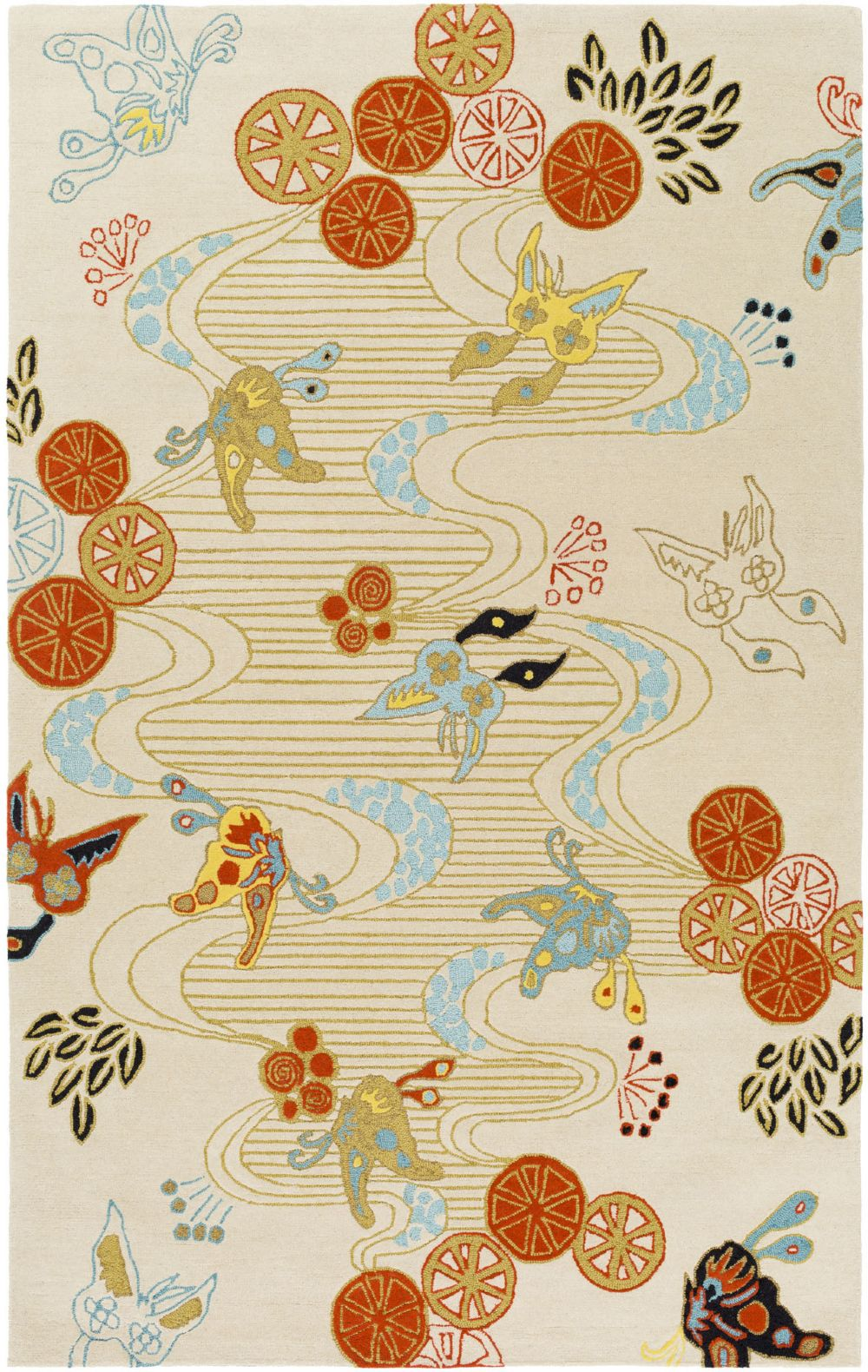 surya kismet country & floral area rug collection
