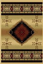 Round Area Rug, Machine Made Rug, Southwestern/Lodge, Cosmos, LA Rugs Rug