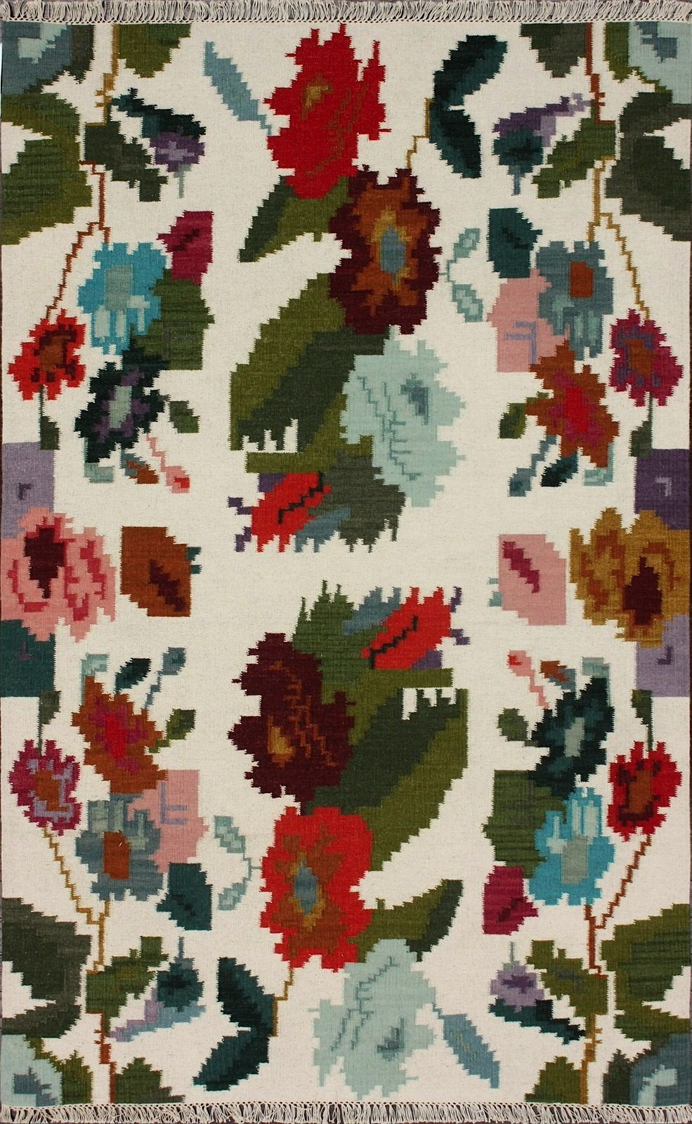 nuloom flatweave country & floral area rug collection