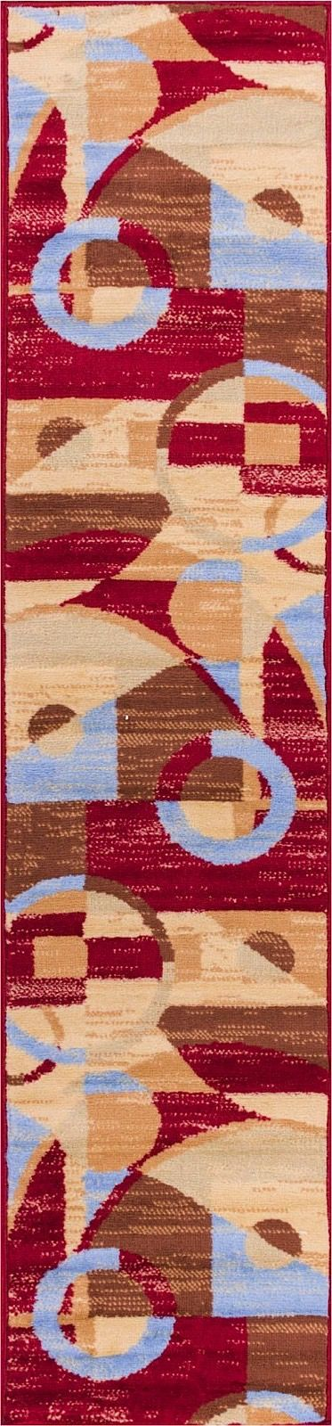 well woven miami riga circles-set of 3-1.8x2.6, 1.8x5, 4.5x6.5 contemporary area rug collection
