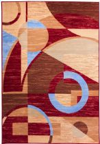Well Woven Contemporary Miami Riga Circles-Set of 3-1.8X2.6, 1.8X5, 4.5X6.5 Area Rug Collection