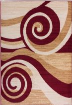 Well Woven Contemporary Miami Maple Waves Area Rug Collection