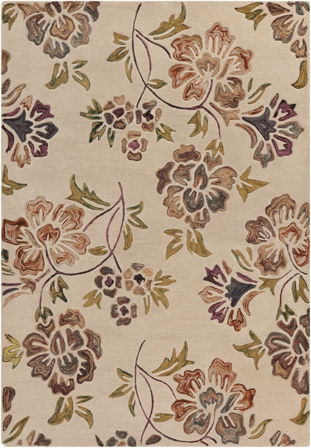 surya enchanted transitional area rug collection