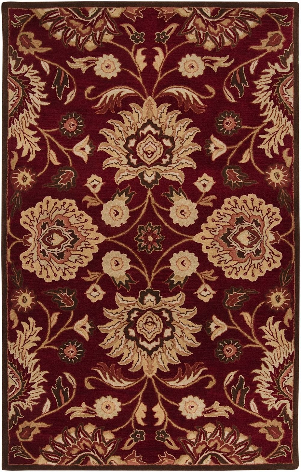 surya floral medallion traditional area rug collection