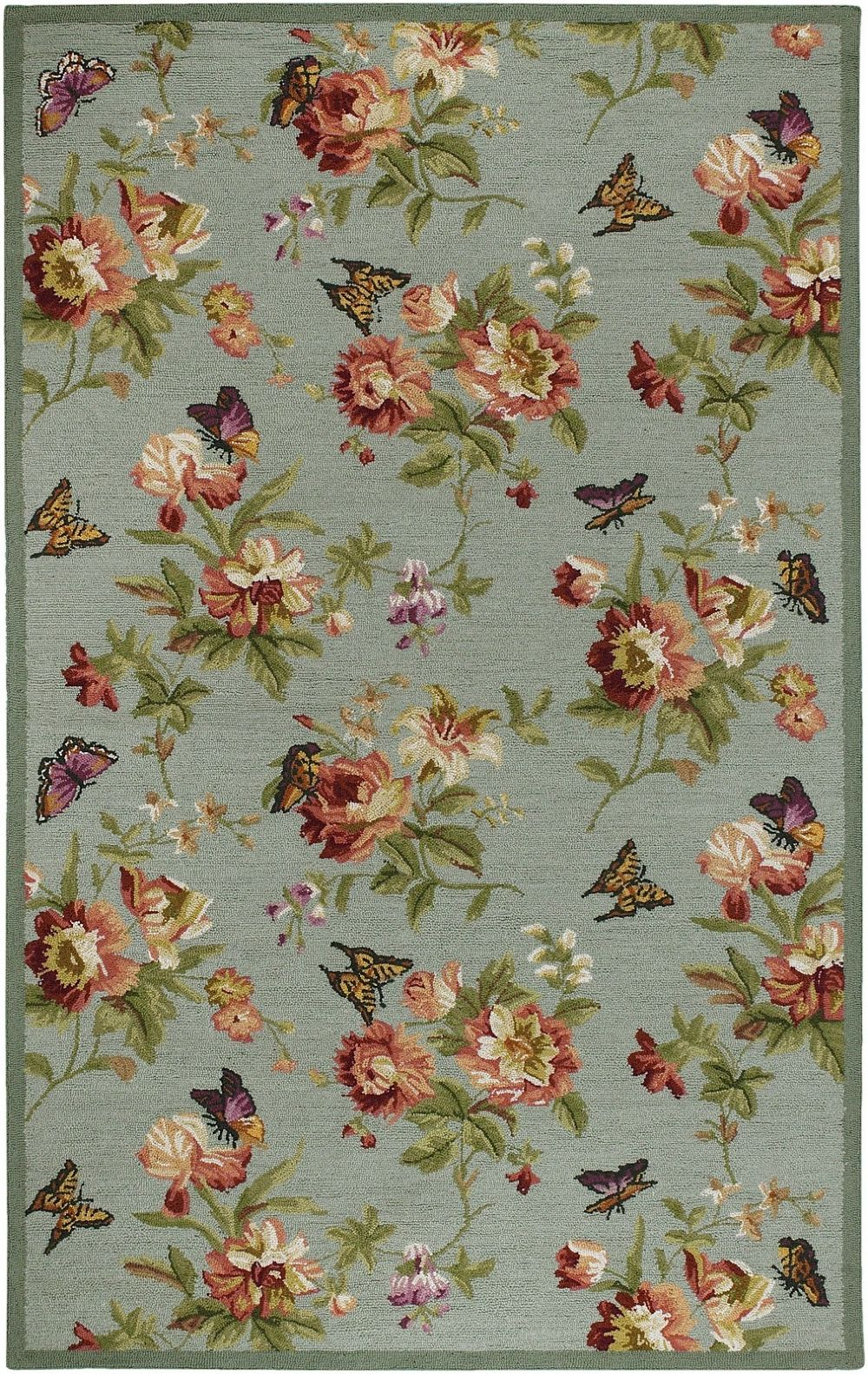 surya flor country & floral area rug collection