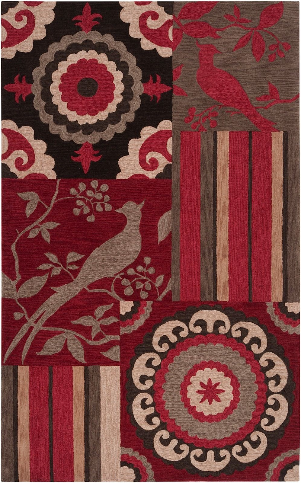 surya impressions contemporary area rug collection