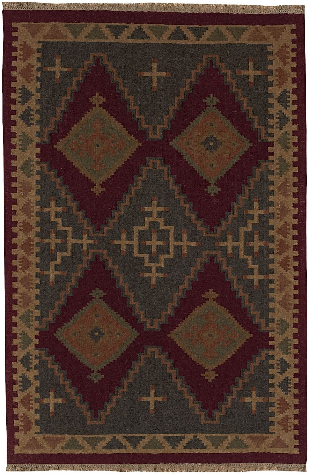 surya jewel tone southwestern/lodge area rug collection