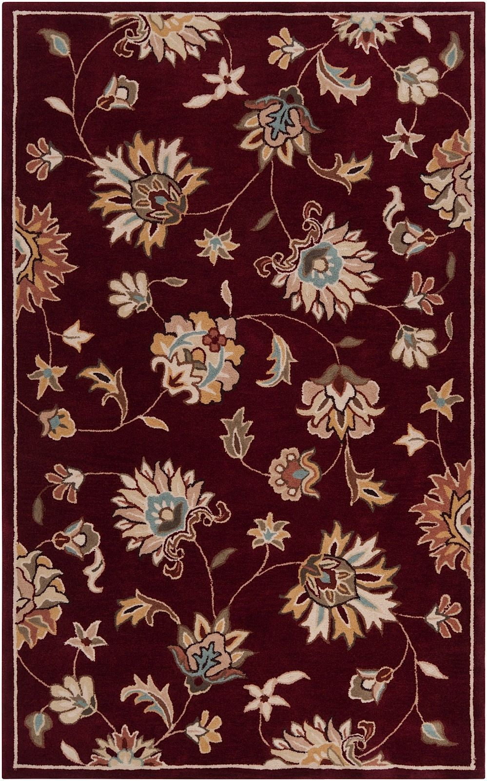surya kingston transitional area rug collection
