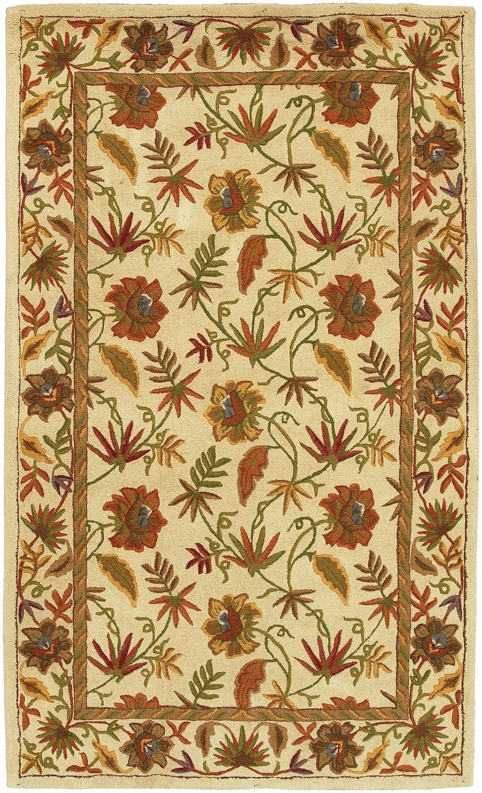 surya kashi country & floral area rug collection