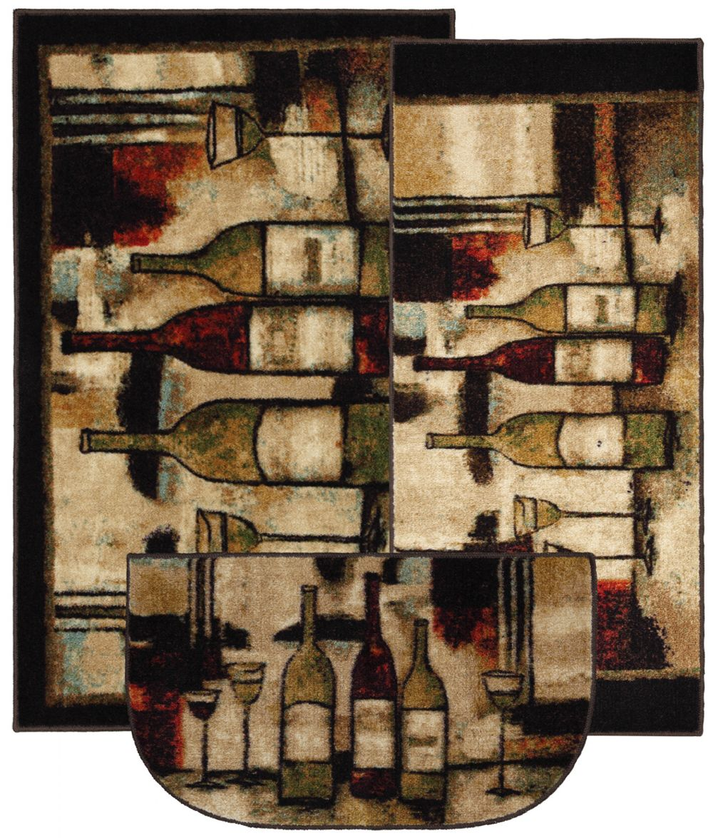 mohawk wine and glasses novelty area rug collection