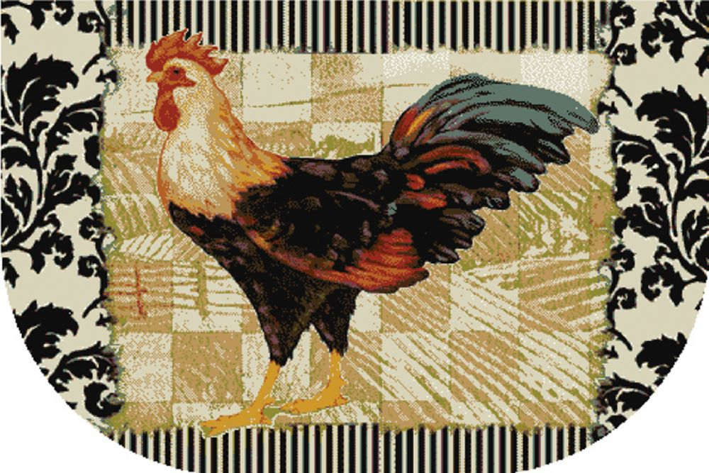 mohawk bergerac rooster novelty area rug collection