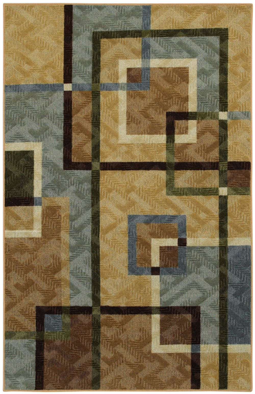 mohawk overlapping squares contemporary area rug collection