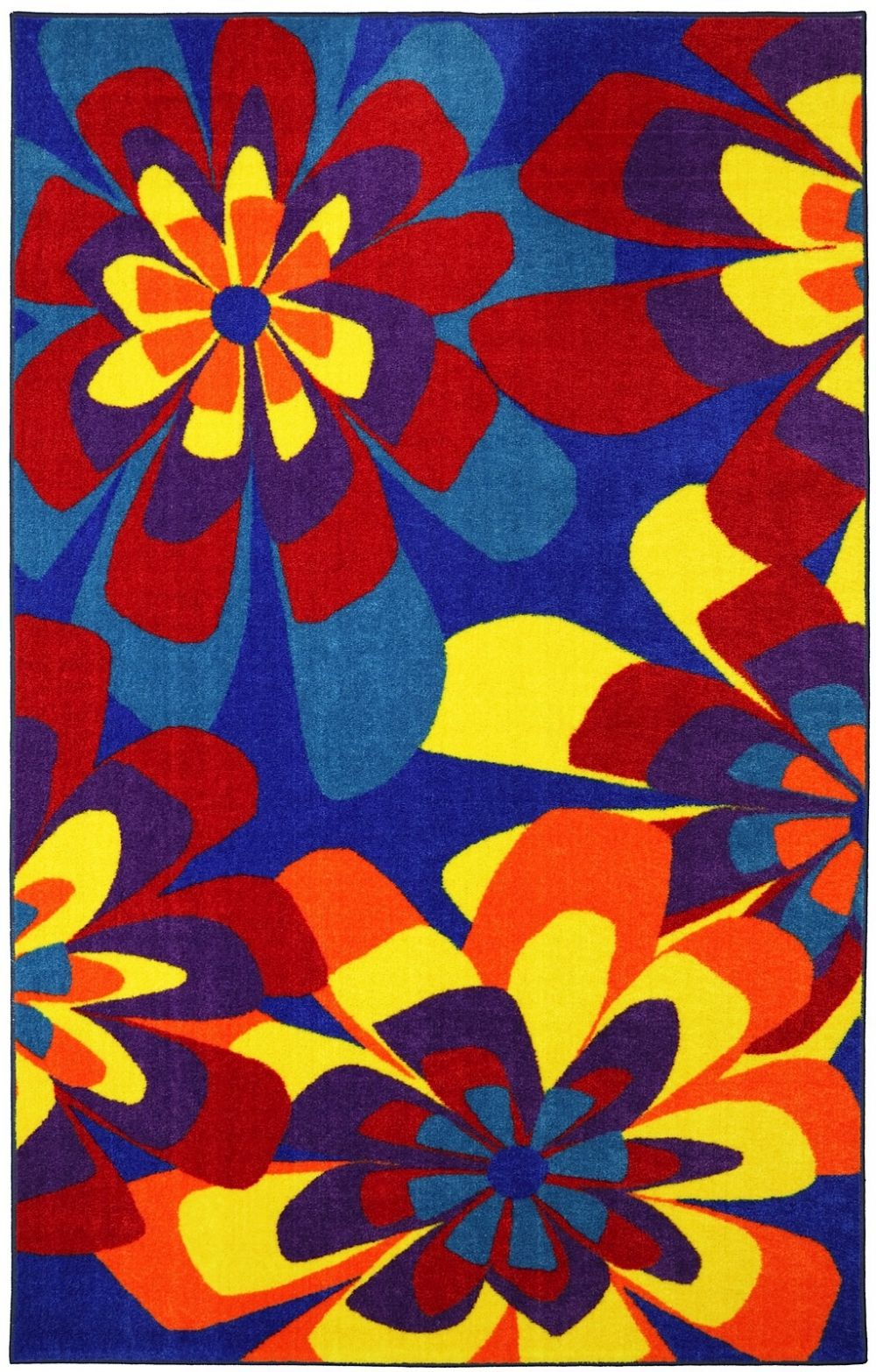 mohawk neon flowers contemporary area rug collection