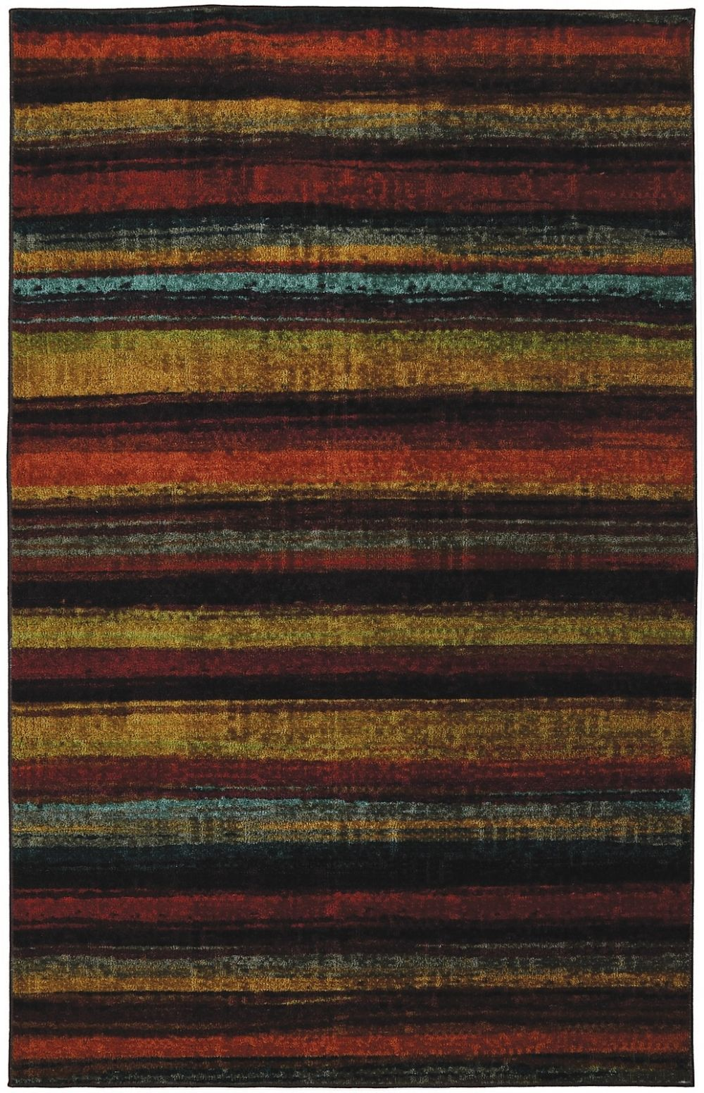 mohawk caravan stripe solid/striped area rug collection