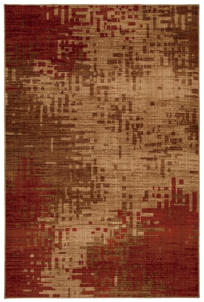 mohawk infero red contemporary area rug collection