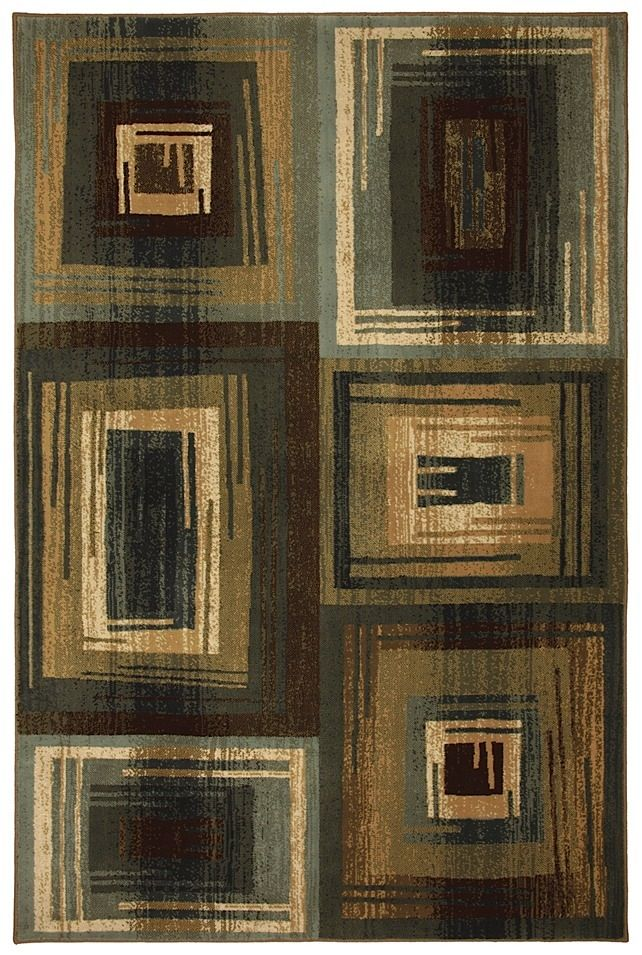 mohawk vibrations blue contemporary area rug collection