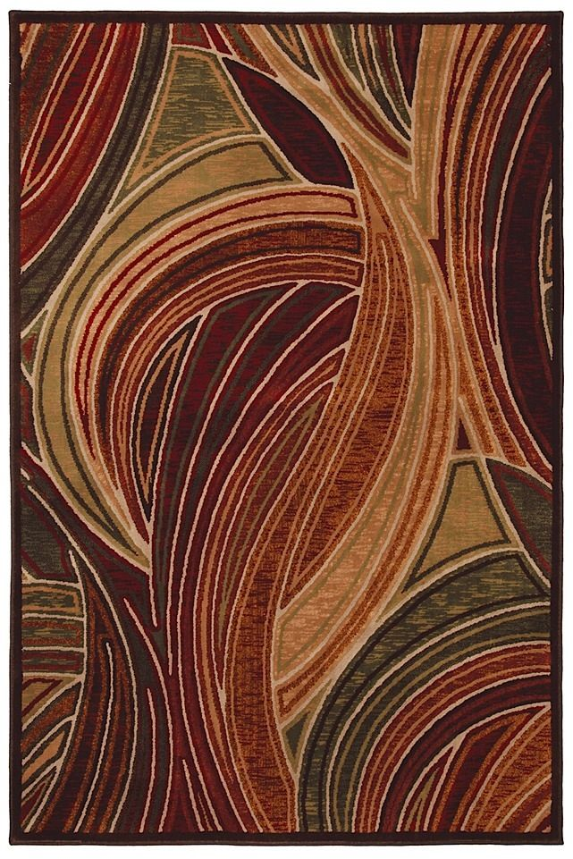 mohawk tidal wave red contemporary area rug collection