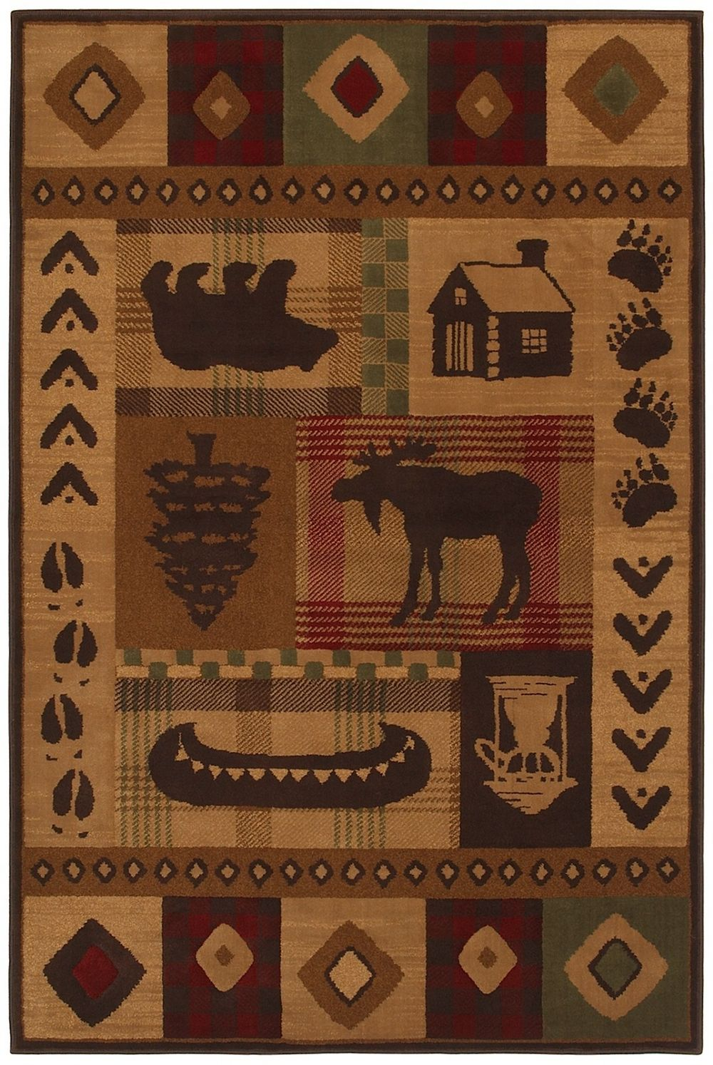 mohawk woolrich westland southwestern/lodge area rug collection