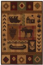 Rectangle Area Rug, Machine Made Rug, Transitional, Woolrich Westland, Mohawk Rug