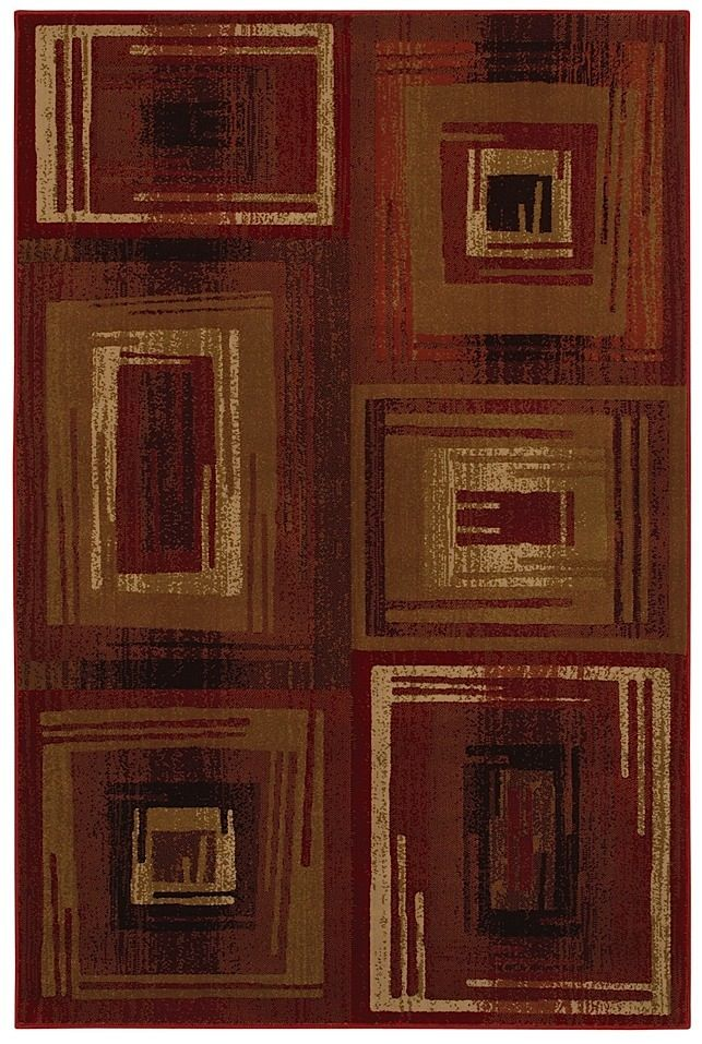 mohawk vibrations red contemporary area rug collection