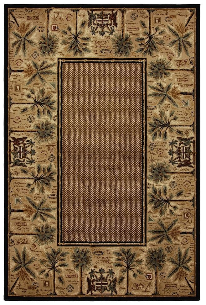 mohawk courtyard palms country & floral area rug collection