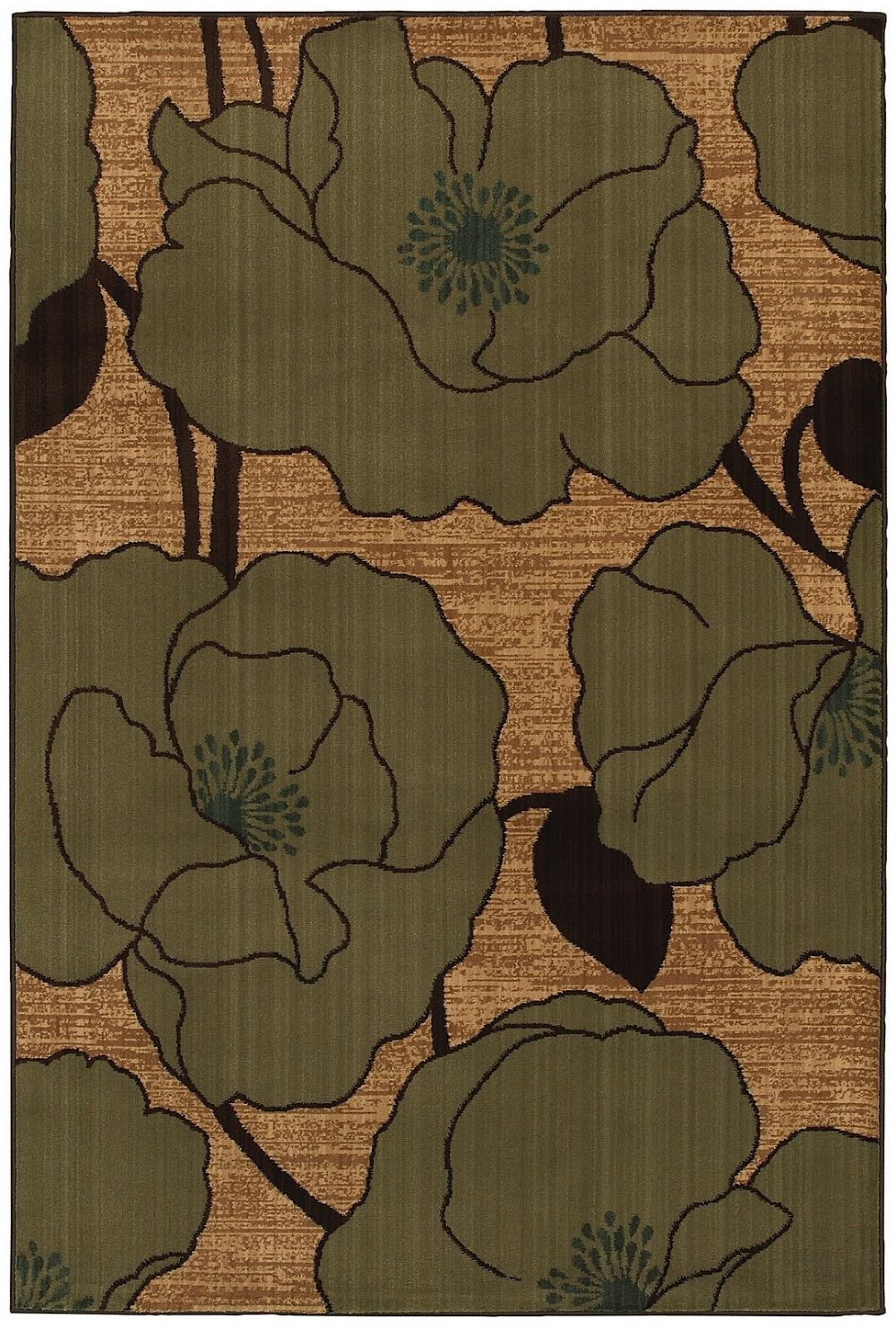 mohawk abstract lilies contemporary area rug collection