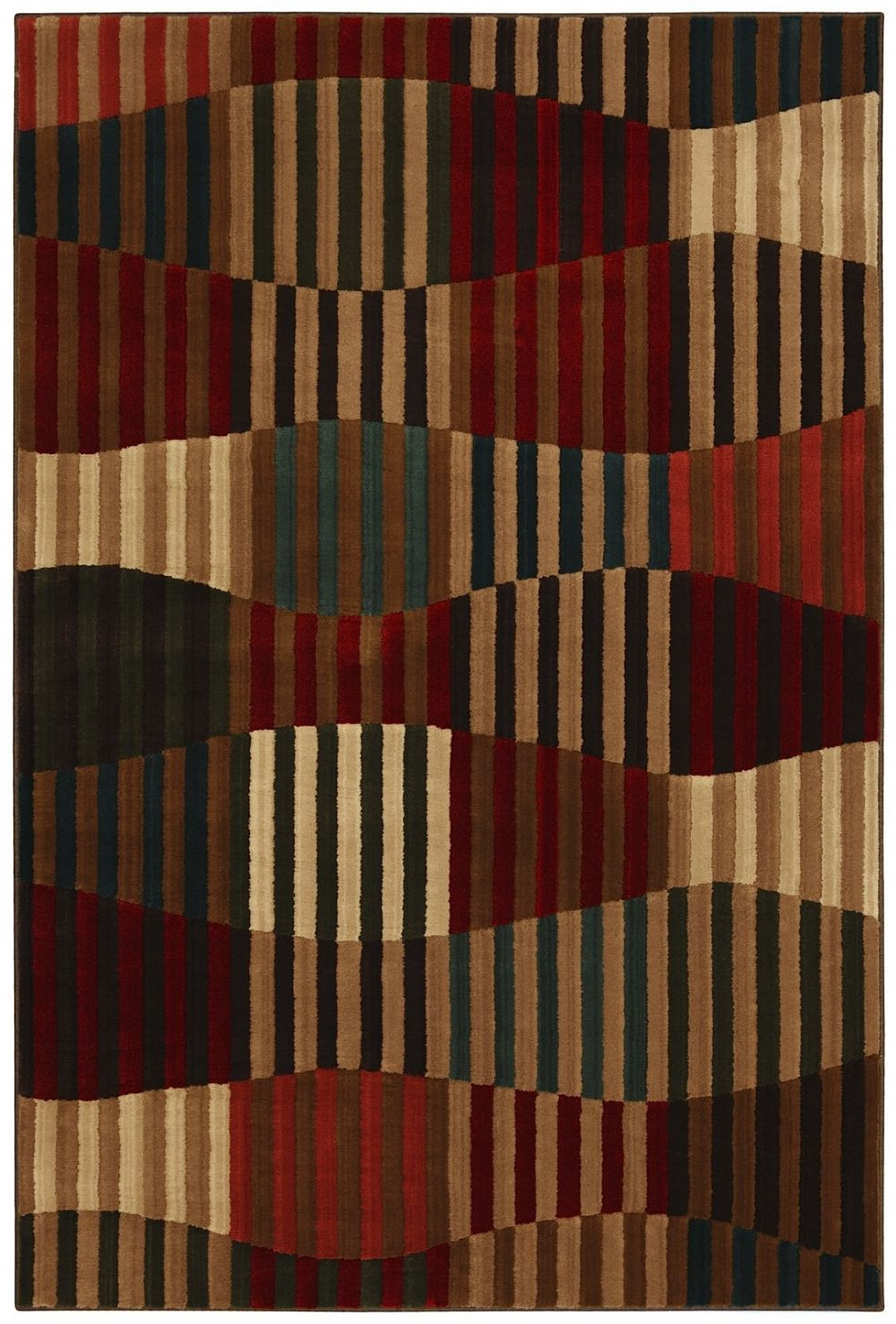 mohawk linear patchwork contemporary area rug collection