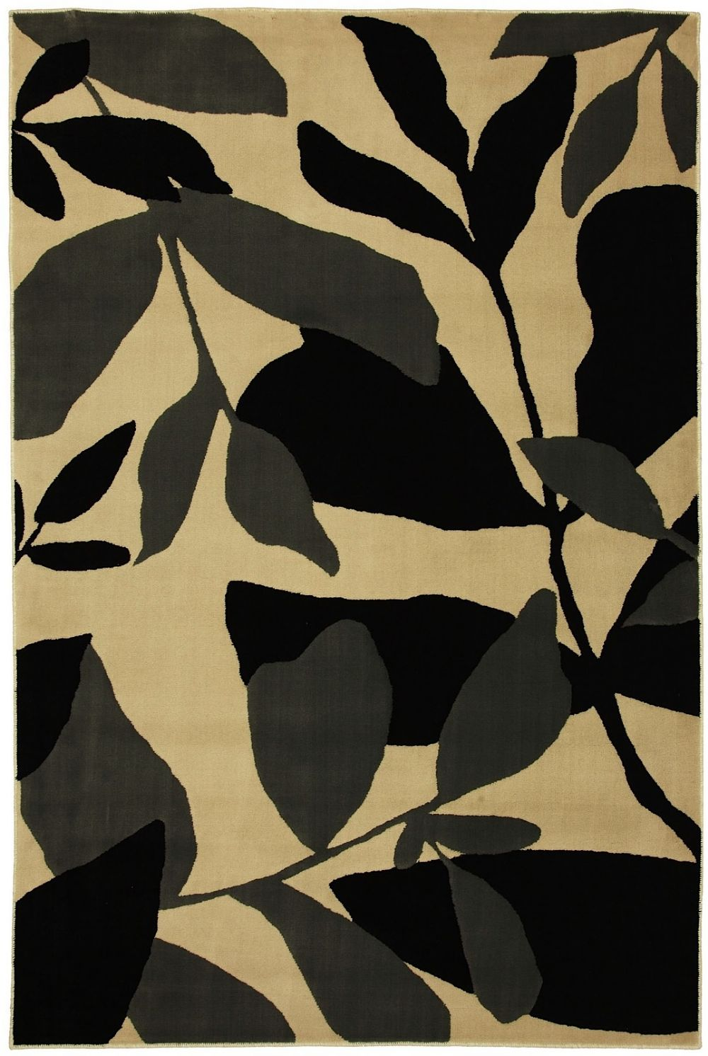 mohawk black and white botanical contemporary area rug collection