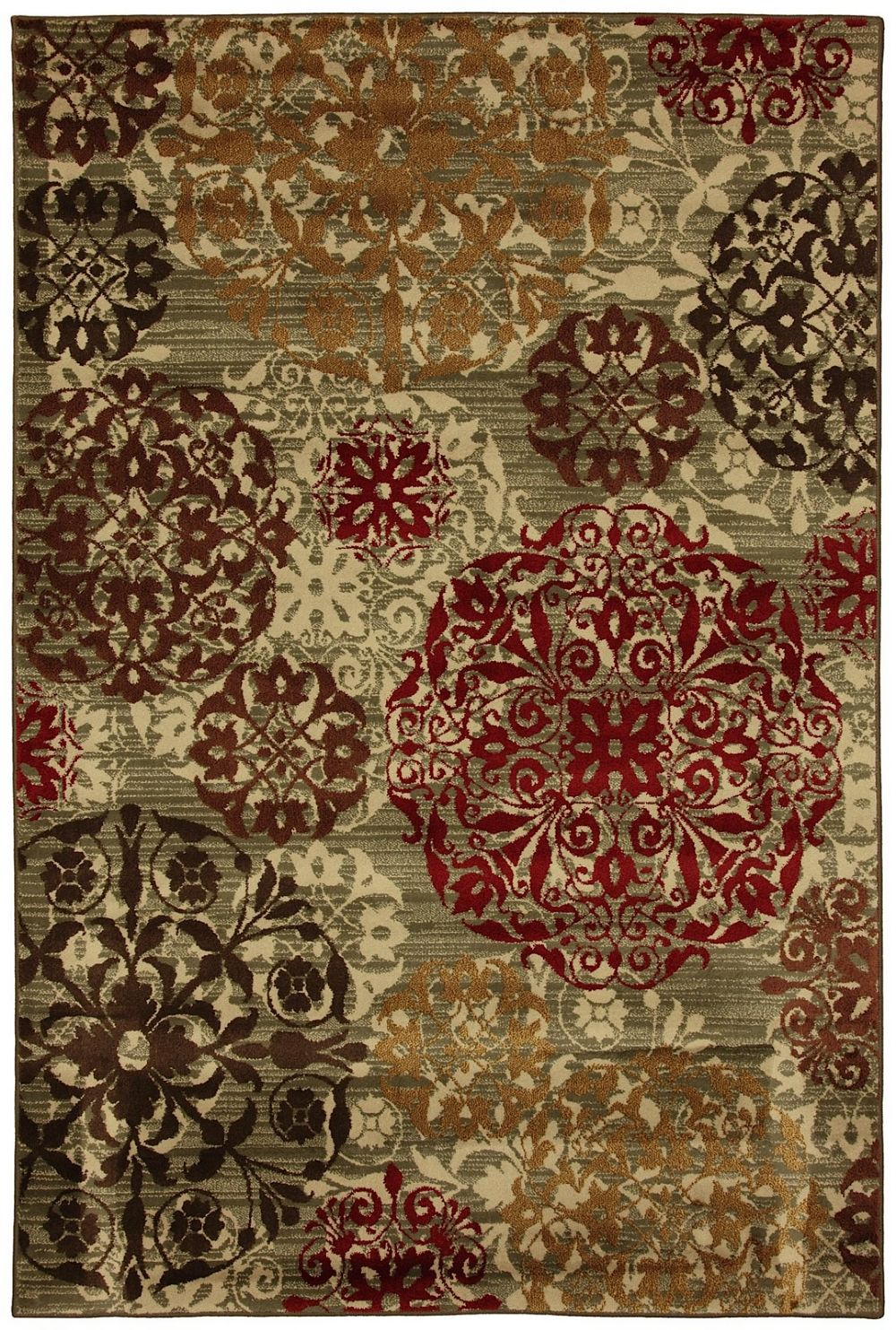 mohawk stamped medallions contemporary area rug collection