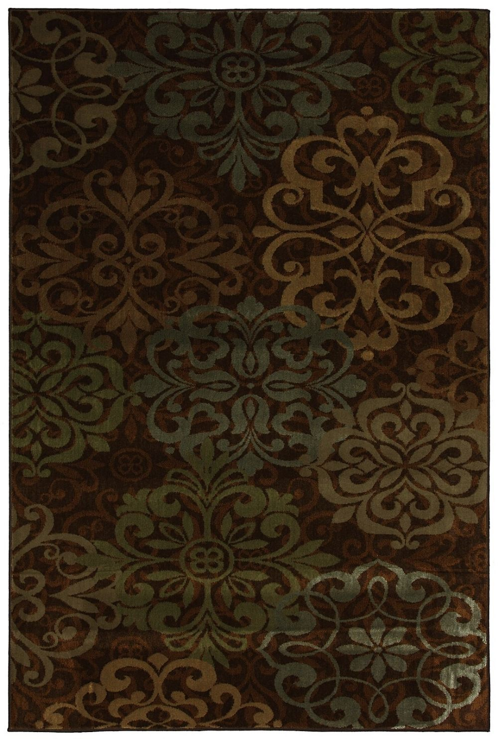 mohawk abstract lace brown contemporary area rug collection
