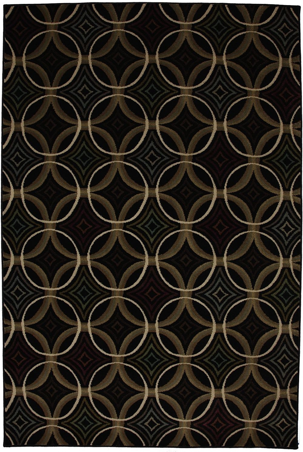 mohawk overlapping circles contemporary area rug collection