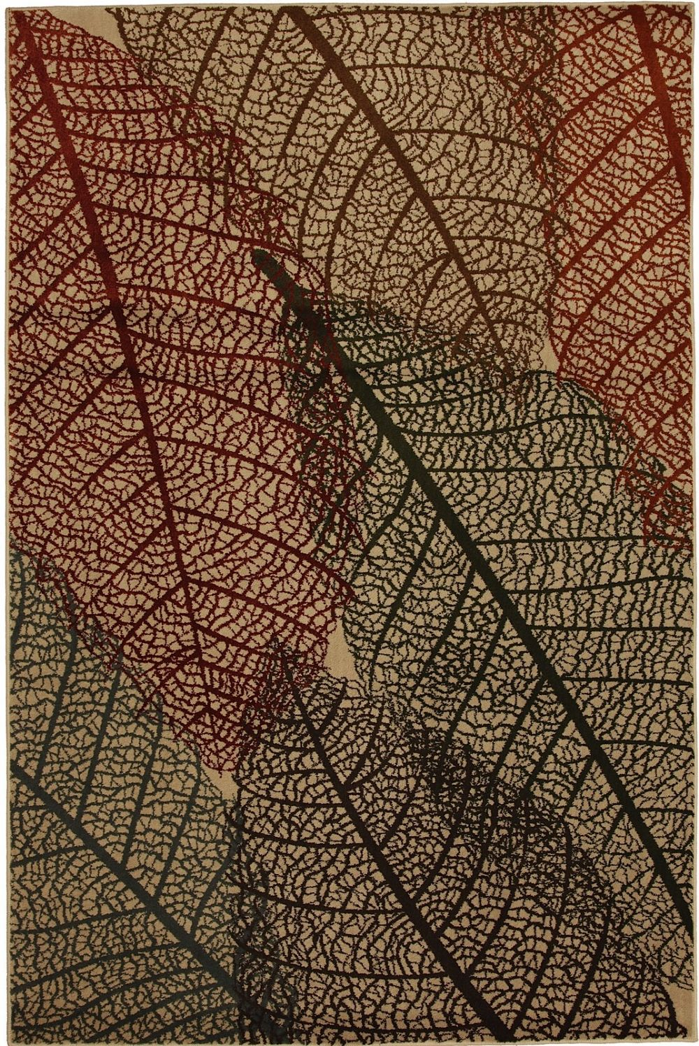 mohawk fossil leaves contemporary area rug collection