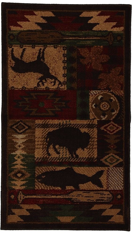 mohawk wyoming southwestern/lodge area rug collection