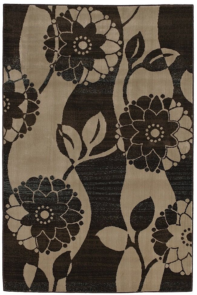 mohawk wavy floral country & floral area rug collection