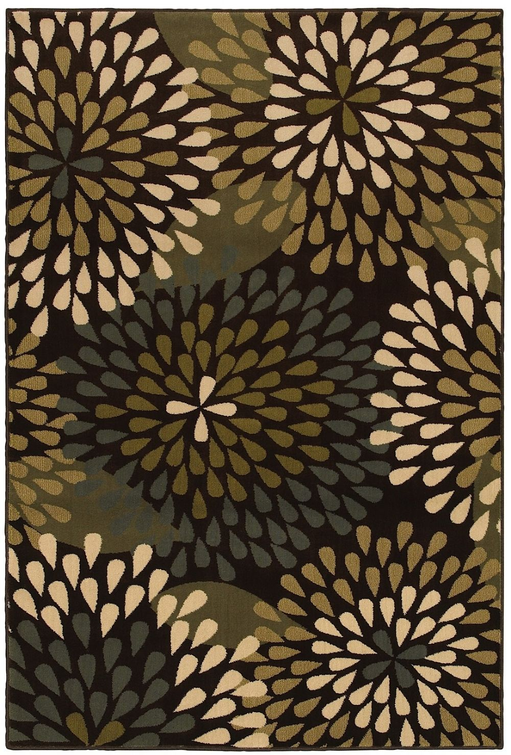 mohawk retro floral contemporary area rug collection