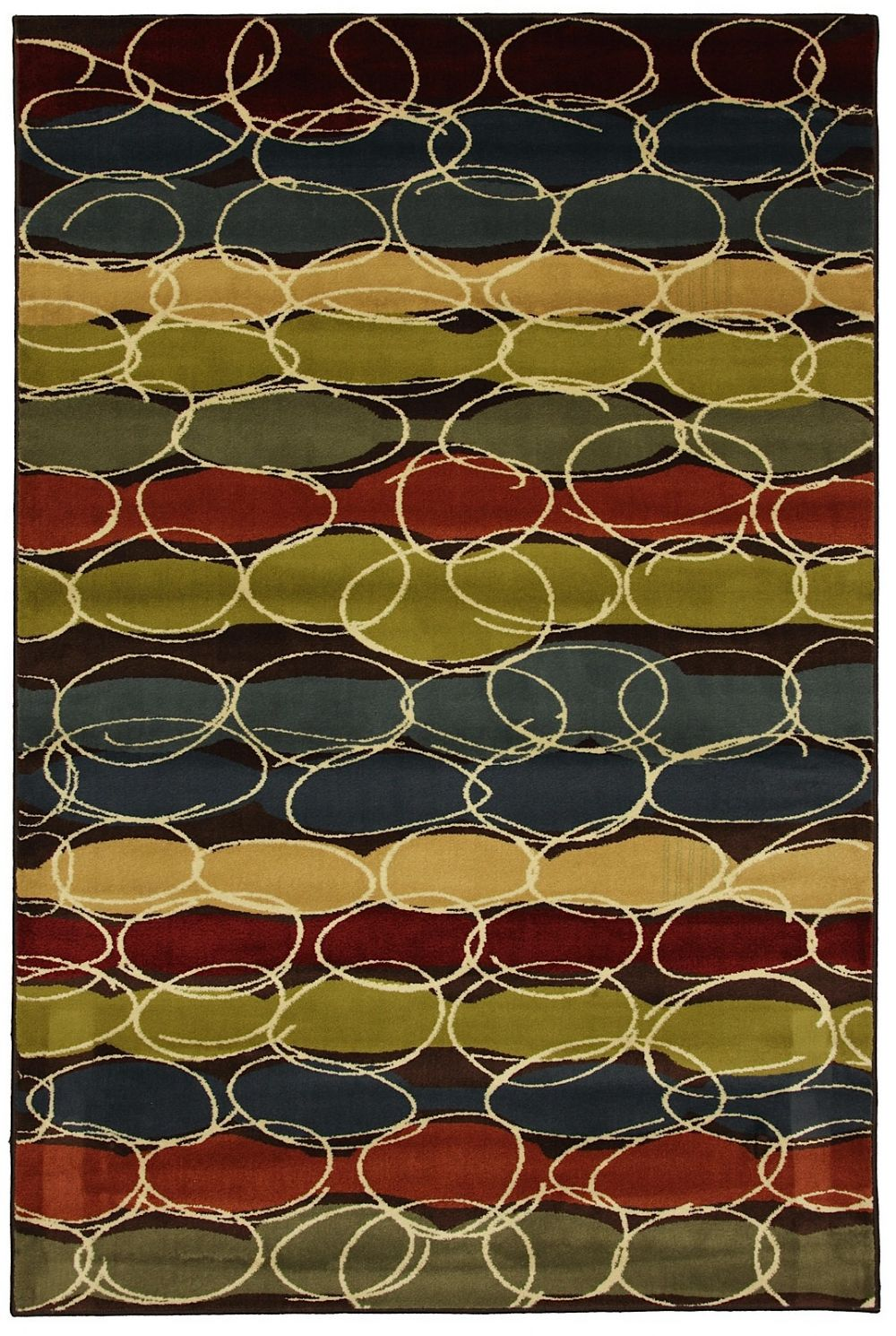 mohawk layered bubbles contemporary area rug collection