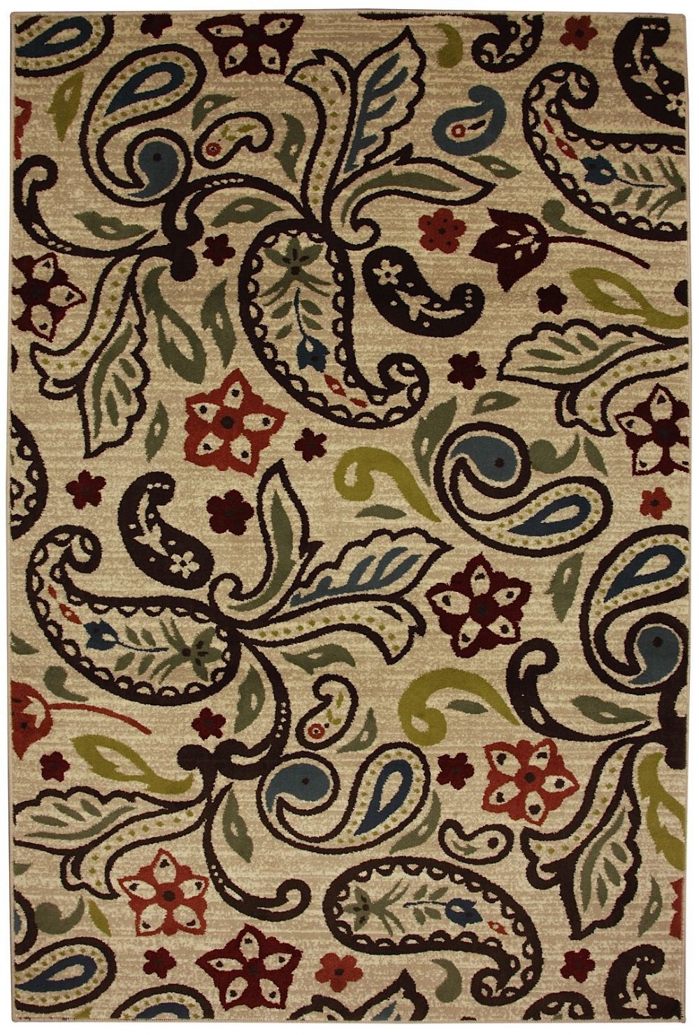 mohawk retro paisley contemporary area rug collection